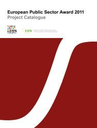 European Public Sector Award 2011 Project Catalogue