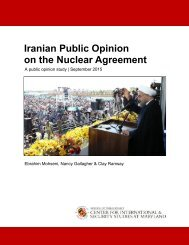 Iranian Public Opinion on the Nuclear Agreement