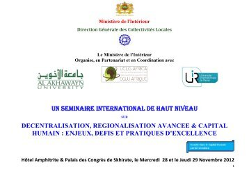 UN SEMINAIRE INTERNATIONAL DE HAUT NIVEAU ... - EPSA 2011