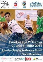 EuroLeague 2 Turnier 7 und 8 März 2014