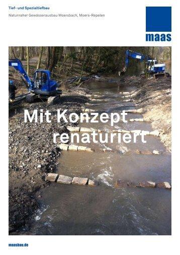 Gewässerausbau Moersbach, Moers-Repelen - maasbau.de