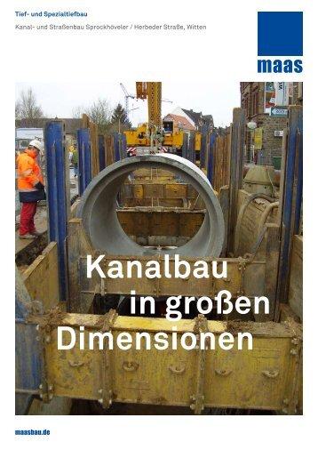 Kanalbau in großen Dimensionen