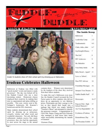 Trudeau Celebrates Halloween - Pierre Elliott Trudeau School ...