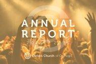 Christ's Church 2014-2015 Annual Report