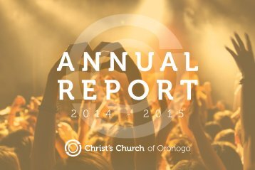 Christ's Church 2014-2015 Annual Report