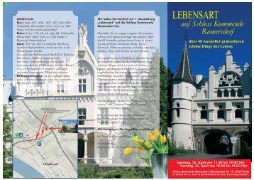 auf Schloss Kommende Ramersdorf - im SPORTPARK!