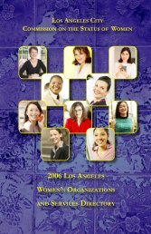 2006 LOS ANGELES WOMEN'S ORGANIZATIONS SERVICES DIRECTORY