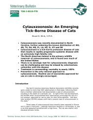 Cytauxzoonosis An Emerging Tick-Borne Disease of Cats