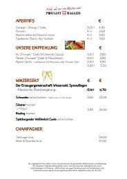 aperitifs aperitifs € unsere empfehlung unsere ... - Proviant-Magazin