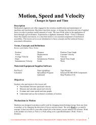 Motion Speed and Velocity