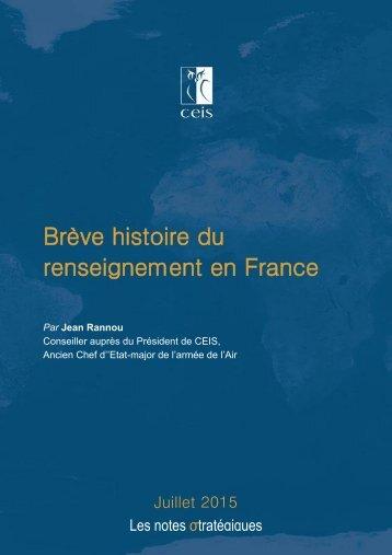 Brève histoire du renseignement en France
