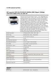 3) HP LaserJet printer HP LaserJet 1022/NL FR EN GE ... - Webshop