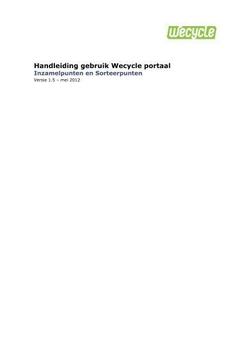 Handleiding gebruik Wecycle portaal