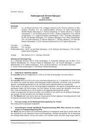 Verslag Stadsregioraad 2 juli 2009 - De Stadsregio Arnhem Nijmegen