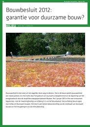 Bouwbesluit 2012 garantie voor duurzame bouw?