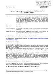 Verslag Commissie Mobiliteit & Werken 11 oktober 2012