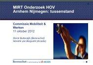 MIRT Onderzoek HOV Arnhem Nijmegen tussenstand