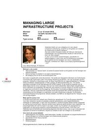 MANAGING LARGE INFRASTRUCTURE PROJECTS