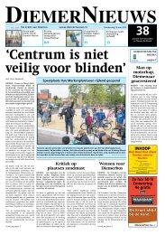 'Centrum is niet veilig voor blinden'
