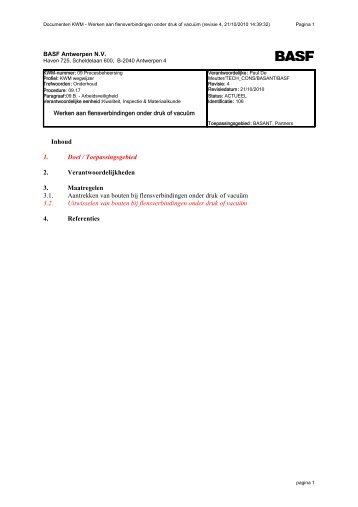 Documenten KWM - Werken aan fle - Basf