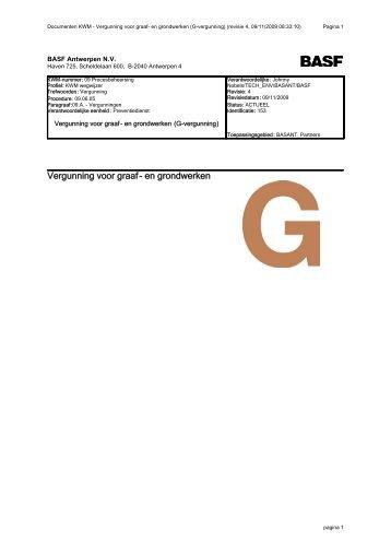Vergunning voor graaf- en grondwerken
