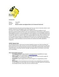 Nieuwe website met digitaal loket voor Gemeente Oosterzele