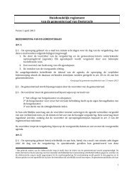 Huishoudelijk reglement van de gemeenteraad van Oosterzele