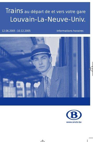 Trains Louvain-La-Neuve-Univ