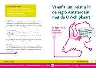 Vanaf 3 juni reist u in de regio Amsterdam met de OV-chipkaart