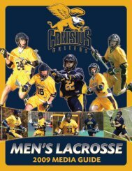 Media Guide - Canisius College Griffins Athletics
