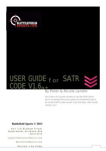 USER GUIDE CODE V1.6 SATR