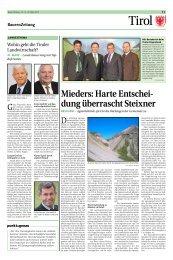 Mieders: Harte Entschei- dung überrascht Steixner - Tiroler ...