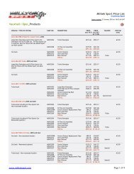 Milltek Sport Price List Vauxhall / Opel_Products