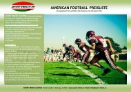 AMERICAN FOOTBALL PREISLISTE