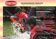 FEUERWEHRSPORT PREISLISTE
