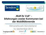 Erfahrungen zweier Kommunen bei der Mobilitätswende