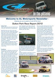Welcome to AL Motorsports Newsletter - Oulton Park Race Report 2012