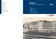 Magazin zur Bosch-Geschichte 2012
