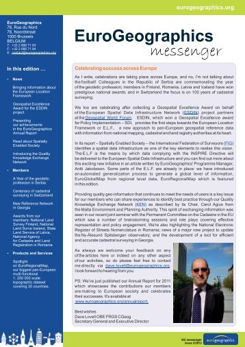 EuroGeographics messenger 2/2012