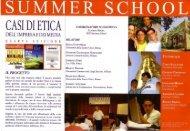 Programma Summer School - Arces