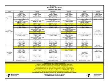 May 12 2013 - May 26 2013 Revised 5/8 at 12:00pm