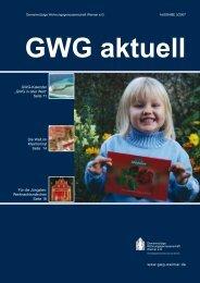 """GWG-Kalender """"GWG in aller Welt"""" Seite 11 Die Welt ... - GWG Weimar"""