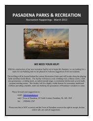 PASADENA PARKS & RECREATION