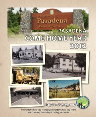 Come Home Year Booklet - Town of Pasadena