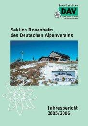 Jahresbericht 2005/2006 - Sektion Rosenheim