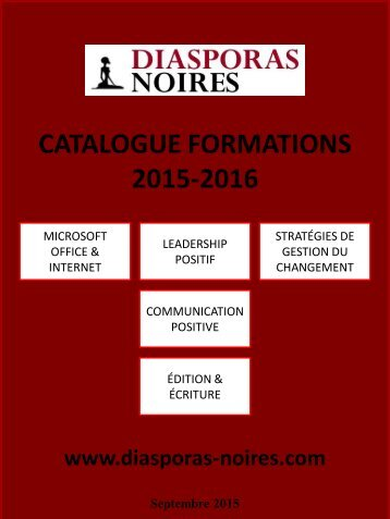 CATALOGUE FORMATIONS 2015-2016