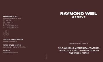 SELF-WINDING MECHANICAL WATCHES WITH ... - Raymond Weil