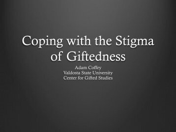 Coping with the Stigma of Giftedness