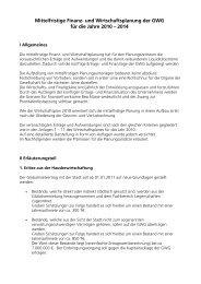 und Wirtschaftsplanung der GWG für die Jahre 2010 - Haller Tagblatt