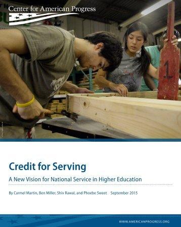 Credit for Serving
